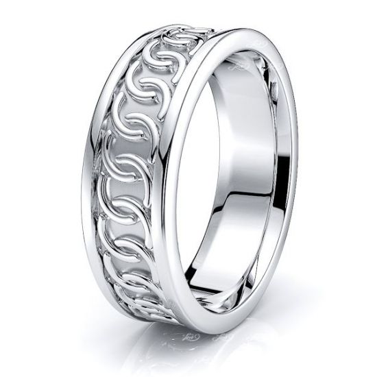 Riona Celtic Knot Mens Wedding Ring