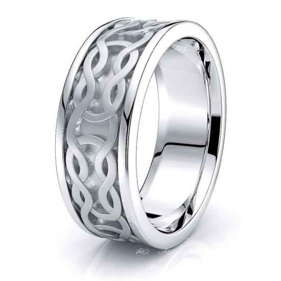 Rohanna Celtic Knot Mens Wedding Band
