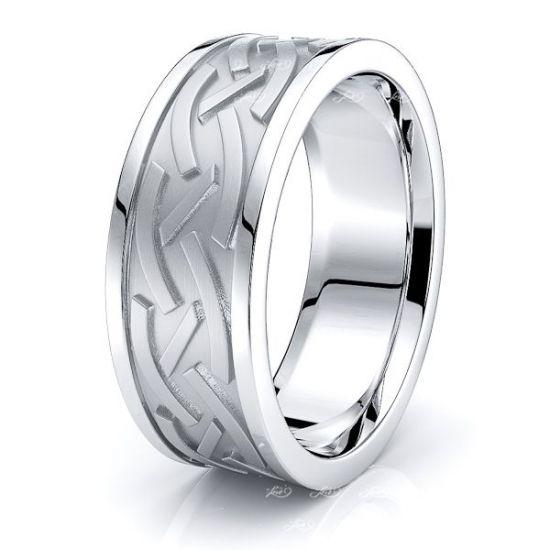 Sunny Celtic Knot Mens Wedding Band