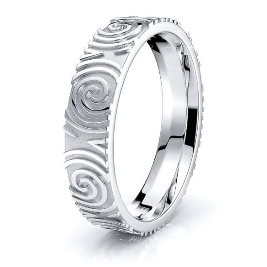 Morrigan Celtic Spiral Mens Wedding Ring