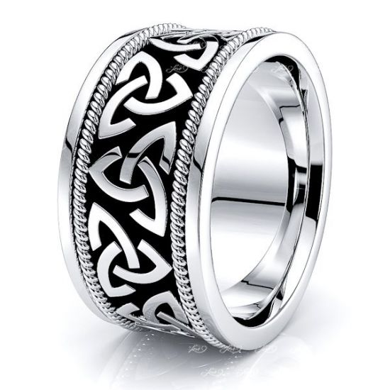 Herman Trinity Knot Mens Celtic Wedding Band