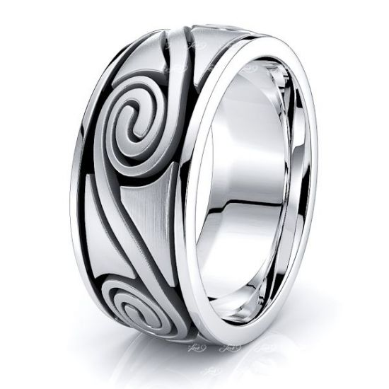 Cormac Celtic Spiral Mens Wedding Band