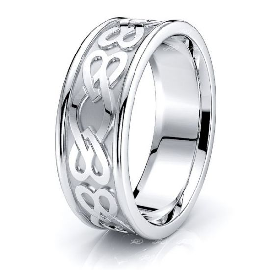 Niall Heart Mens Celtic Wedding Band