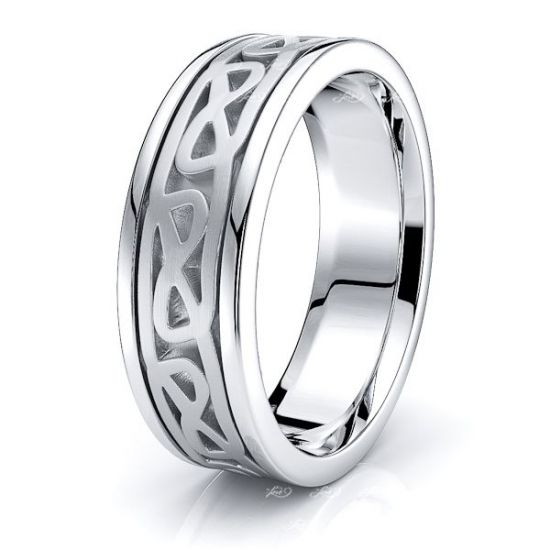 Llew Celtic Knot Mens Wedding Ring