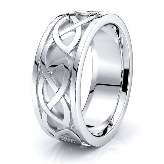Vail Celtic Knot Mens Wedding Band