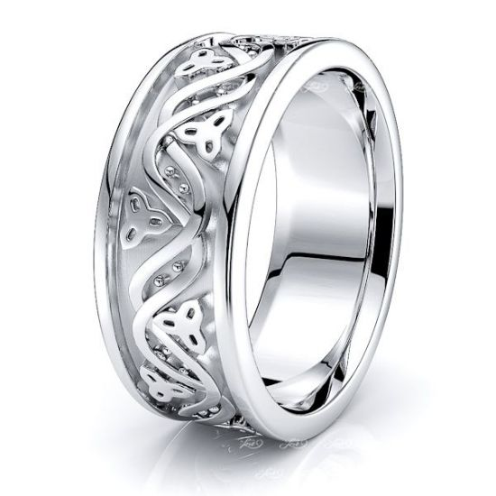 Ailidh Celtic Trinity Mens Wedding Band
