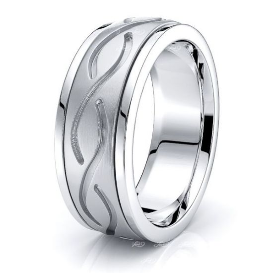 Cameron Celtic Knot Mens Wedding Ring