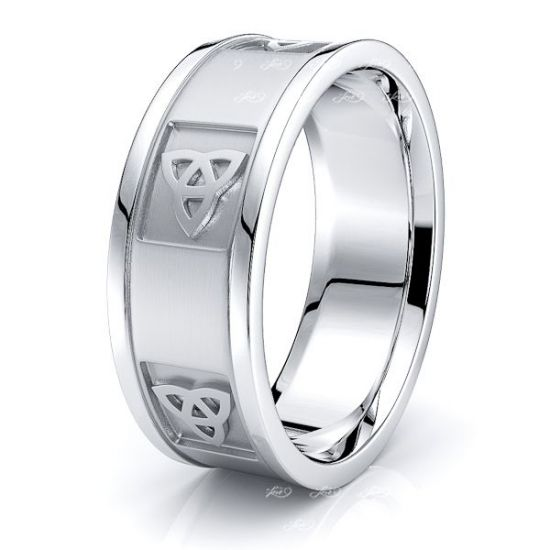 Glen Celtic Trinty Mens Wedding Band
