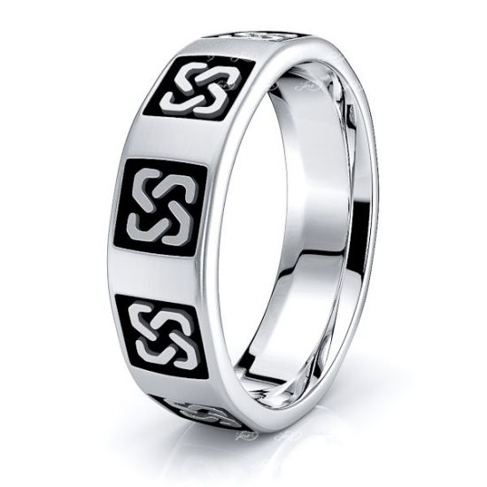 Evelyn Celtic Love Knot Mens Wedding Ring