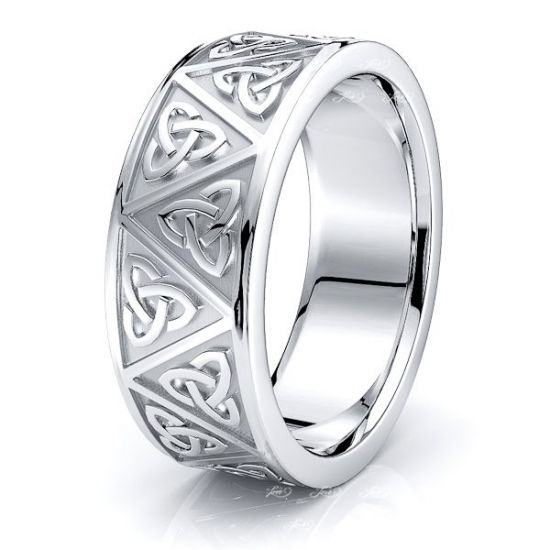 Adlar Trinity Knot Mens Celtic Wedding Ring