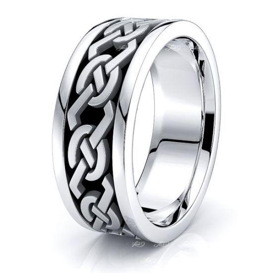 Avalon Celtic Knot Mens Wedding Band