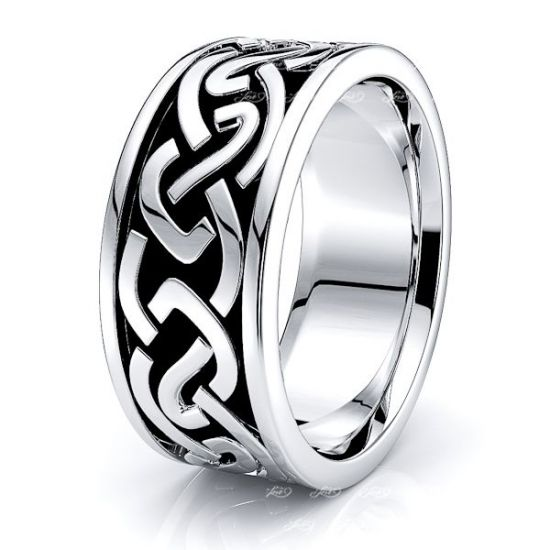 Gwylfai Celtic Knot Mens Wedding Band