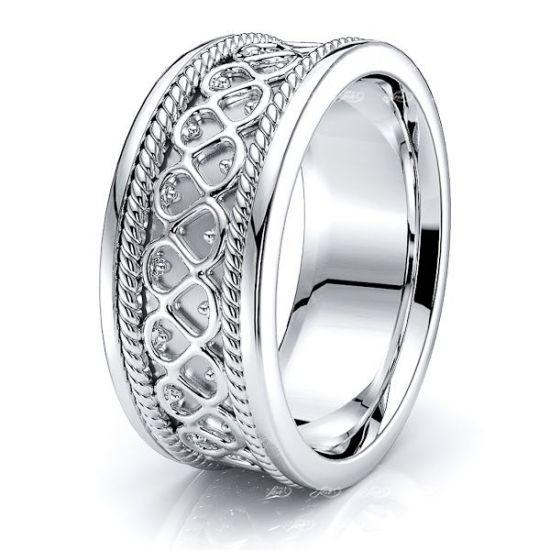 Adaryn Celtic Knot Mens Wedding Ring