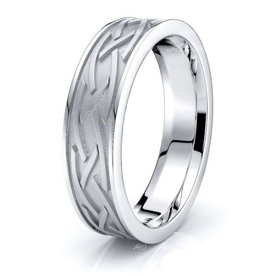 Rhianna Celtic Knot Mens Wedding Ring