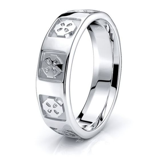 Tyler Celtic Cross Mens Wedding Ring