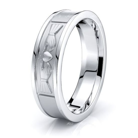 Dylan Claddagh Mens Wedding Band