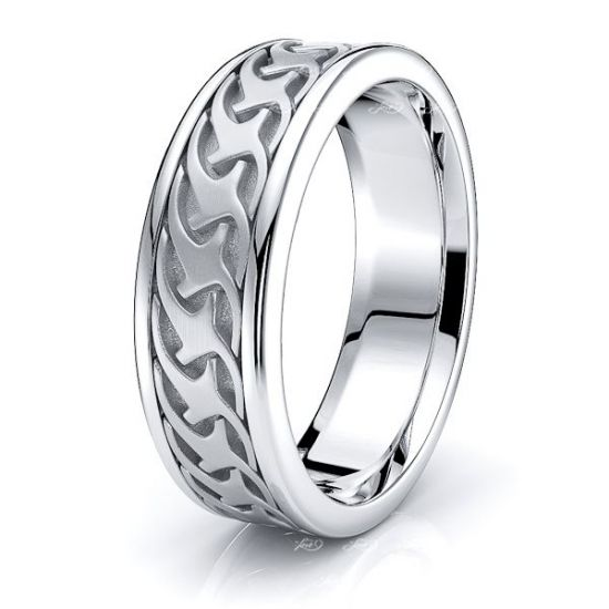 Douglas Mens Celtic Wedding Band