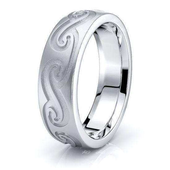 Logan Celtic Knot Mens Wedding Ring