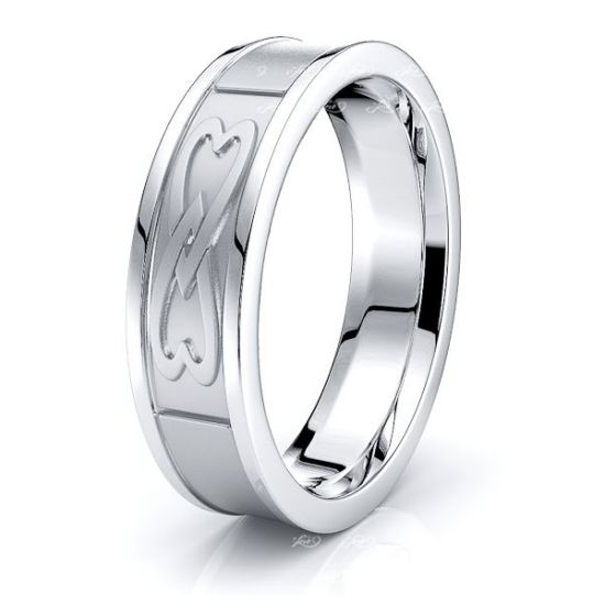 Misty Heart Mens Celtic Wedding Ring