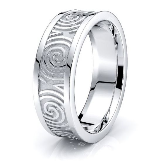 Blair Celtic Knot Mens Wedding Ring