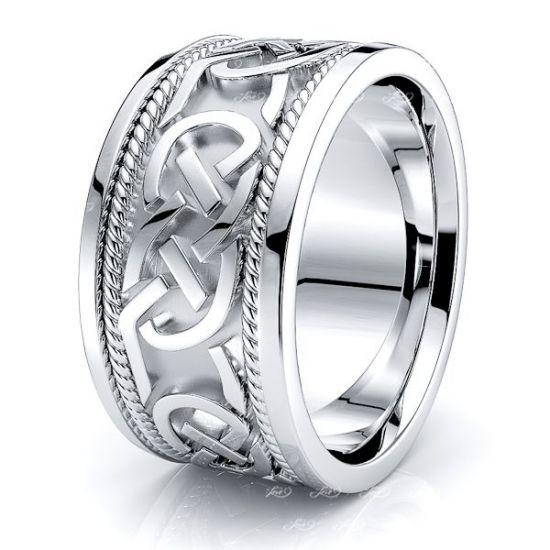 Aibhlinn Celtic Knot Mens Wedding Band