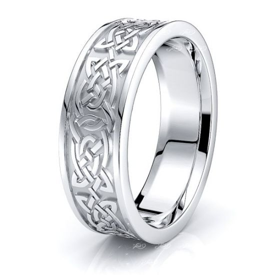 Hale Celtic Knot Mens Wedding Ring
