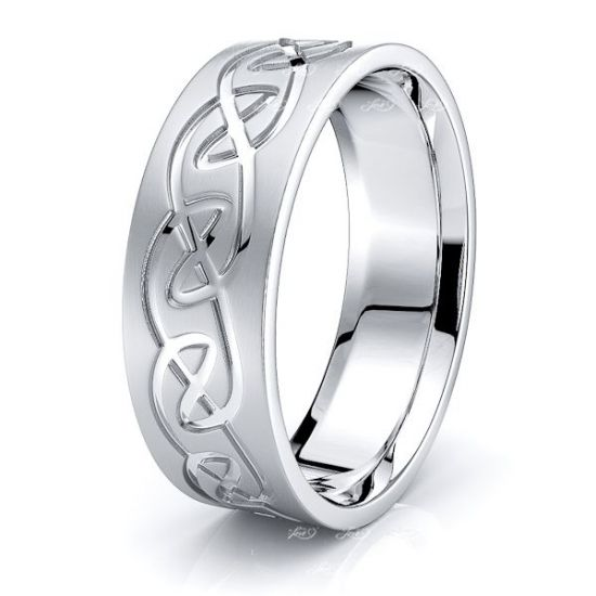 Afallon Infinity Mens Celtic Wedding Band