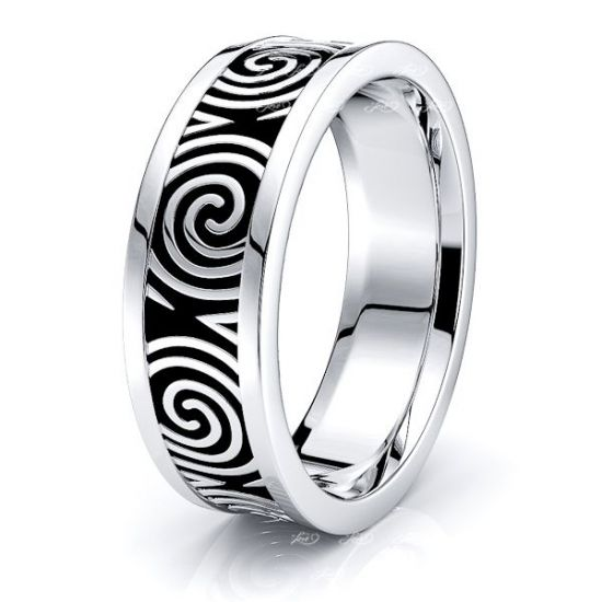 Aideen Celtic Knot Mens Wedding Ring