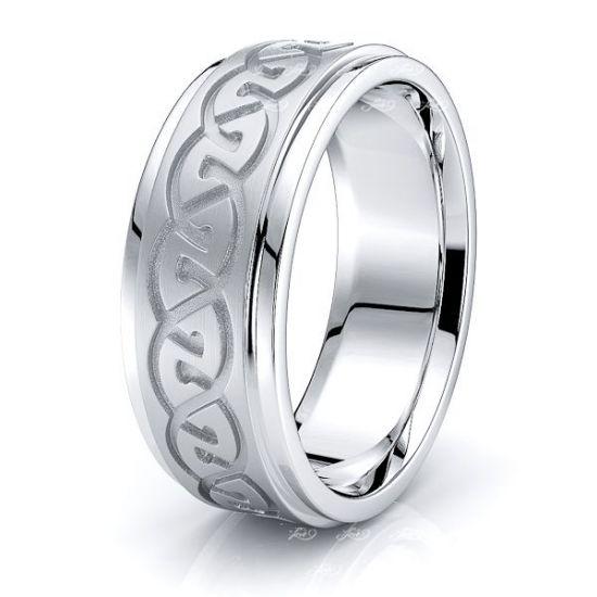 Bridget Celtic Knot Mens Wedding Band