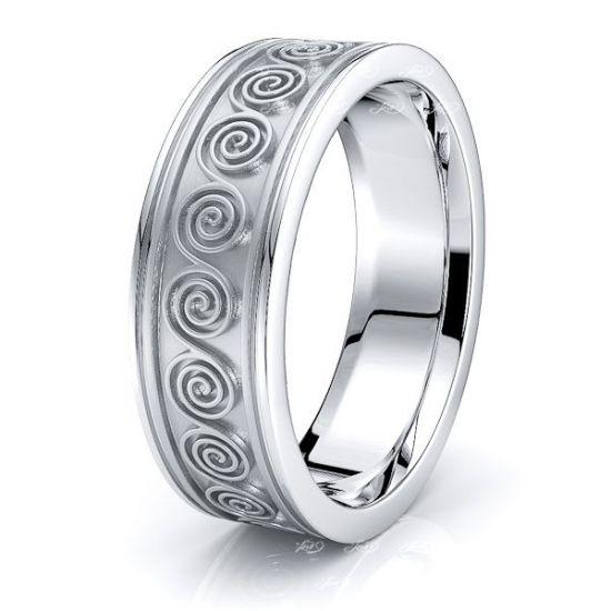 Seren Celtic Knot Mens Wedding Ring