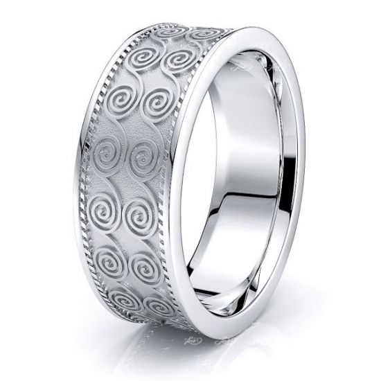 Telor Celtic Knot Mens Wedding Ring