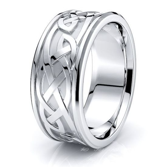 Liam Celtic Knot Mens Wedding Band