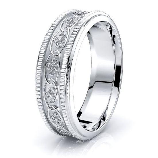 Adele Floral Mens Celtic Wedding Ring