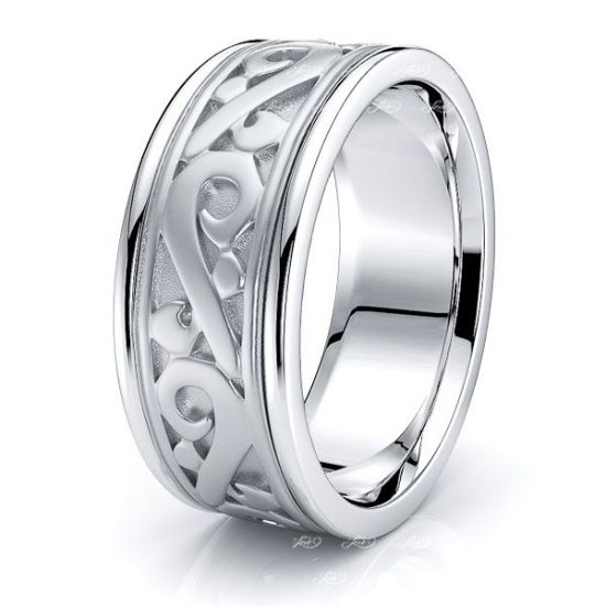 Eilidh Celtic Knot Mens Wedding Ring