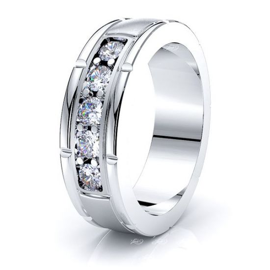 Hazel Mens Diamond Wedding Band