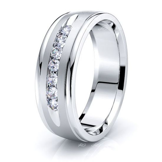 Claire Seven Stone Mens Diamond Wedding Band