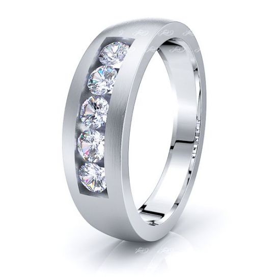 Seraphina Mens Diamond Wedding Band