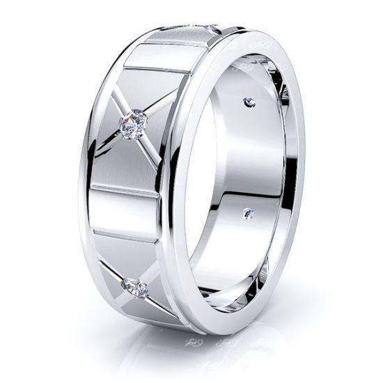 Lydia Mens Diamond Wedding Band
