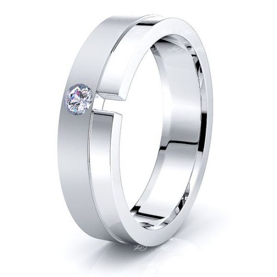 Edith Mens Diamond Wedding Ring