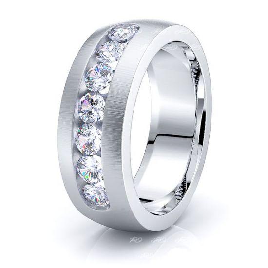 Elise Mens Diamond Wedding Band