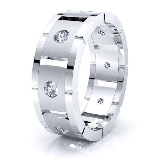 Ariadne Mens Diamond Wedding Band