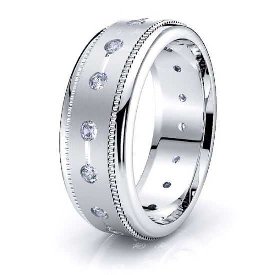 Persephone Mens Diamond Wedding Ring