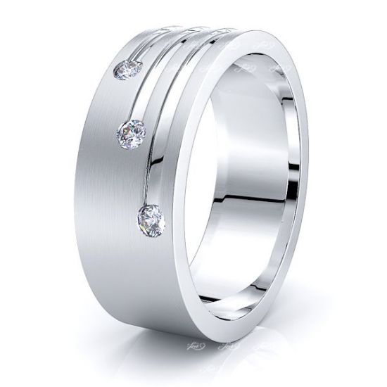 Mary Mens Diamond Wedding Band