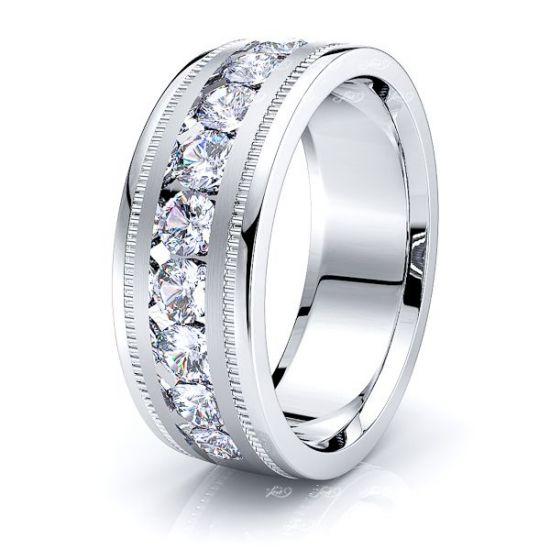Naomi Mens Diamond Wedding Band