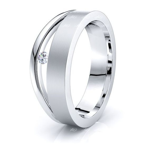 Lottie Mens Diamond Wedding Ring