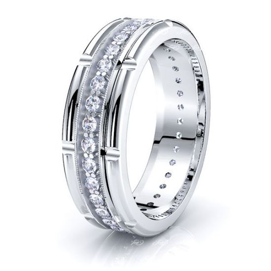 Juniper Mens Diamond Wedding Band