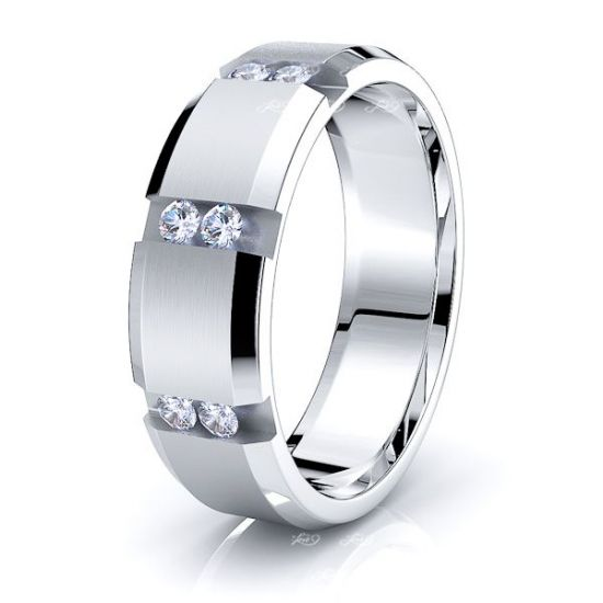 Dahlia Mens Diamond Wedding Band