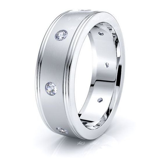 Ingrid Mens Diamond Wedding Band