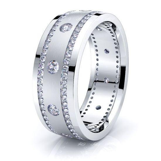 Arya Mens Diamond Wedding Band