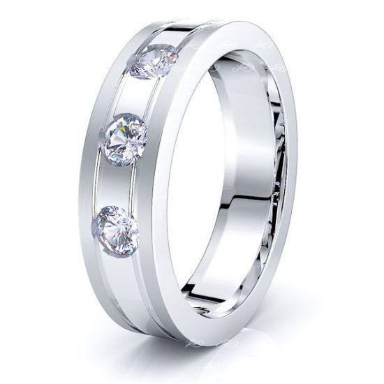 Greta Mens Diamond Wedding Ring